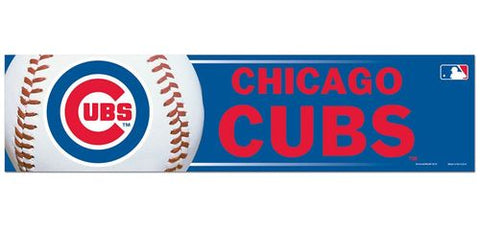 Chicago Cubs Baseball 3X12 Bumper Strip