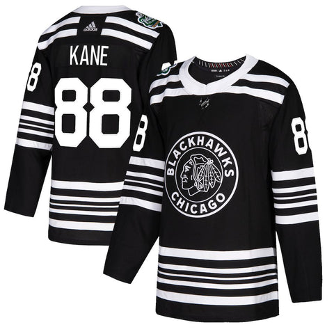 Men's Chicago Blackhawks Patrick Kane adidas Black 2019 Winter Classic Authentic Player Jersey