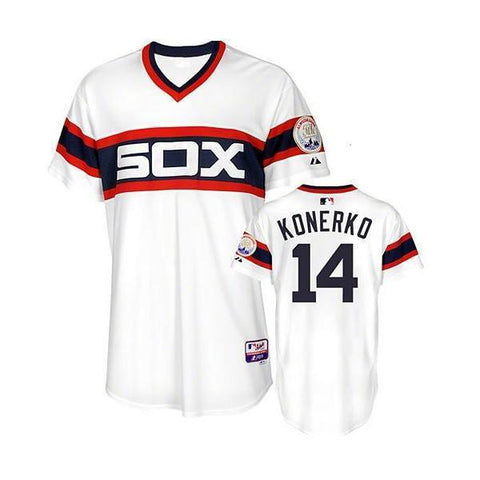 Chicago White Sox Paul Konerko Authentic Turn Back the Clock Sunday 1983 Cool Base Jersey
