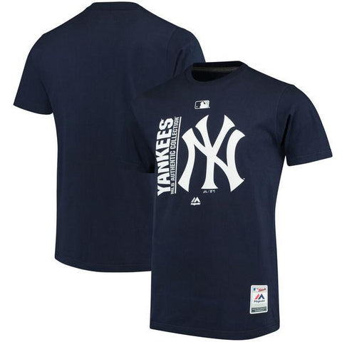 Mens MLB New York Yankees Majestic Navy Authentic Collection Team Icon T-Shirt