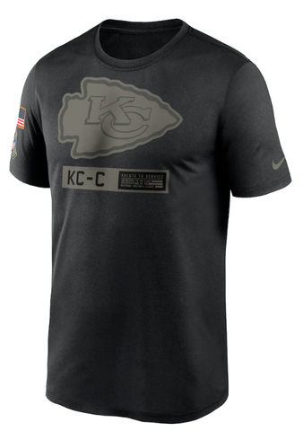 Men's Kansas City Chiefs Nike Black 2020 Salute to Service Team Logo Performance T-Shirt
