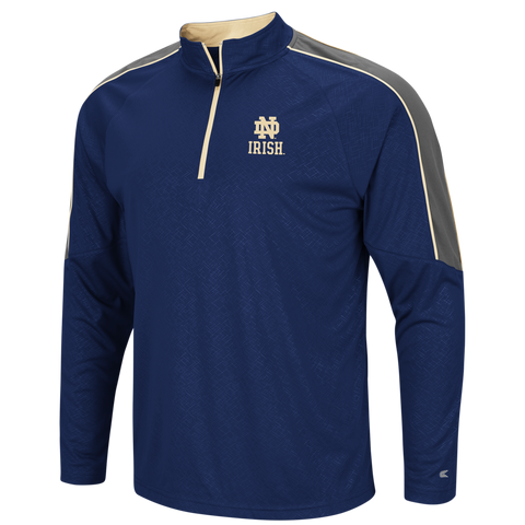 Men's NCAA Notre Dame Fighting Irish Vertigo Performance 1/4 Zip Windshirt By Colosseum Athletics
