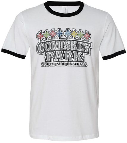 Comiskey Park South Side Baseball Ringer Tee