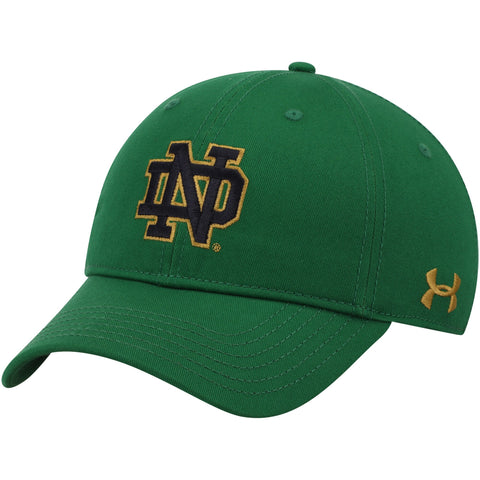 Men's Under Armour Notre Dame Fighting Irish Kelly Green Classic Adjustable Hat