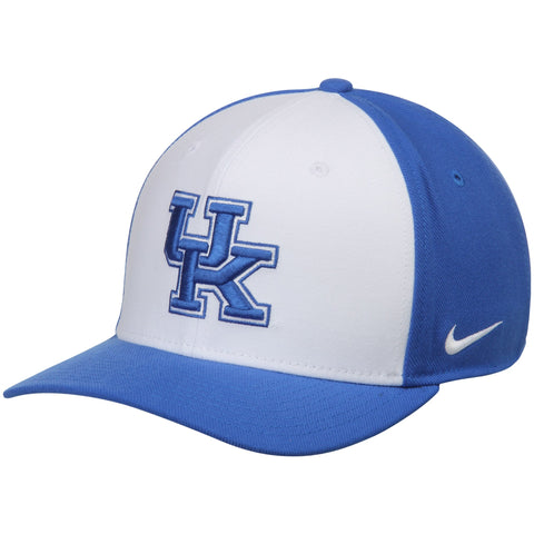 Kentucky Wildcats Nike Swoosh Performance Flex Hat - White/Royal