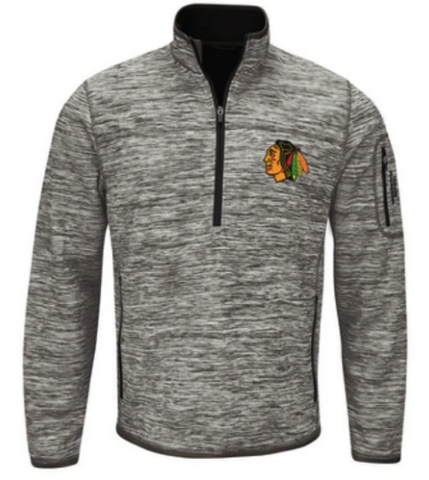 Men's Chicago Blackhawks Fast Pace Track 1/4 Zip Jacket