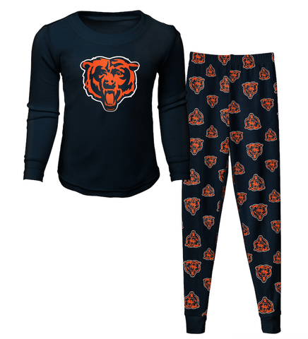 Child Chicago Bears 2-Piece Tee and Pant Sleep Set By Outerstuff