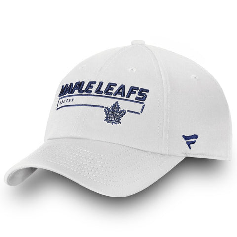 Men's Toronto Maple Leafs Fanatics Branded White Team Authentic Pro Rinkside Fundamental Adjustable Hat