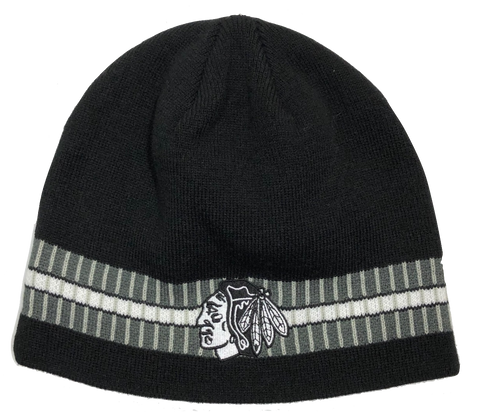 Chicago Blackhawks Adult ACE Uncuffed Beanie By Old Time Hockey