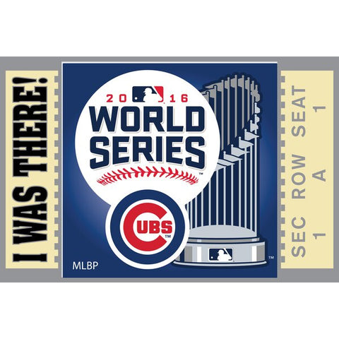 Chicago Cubs 2016 World Series Bound I Was There Lapel Pin