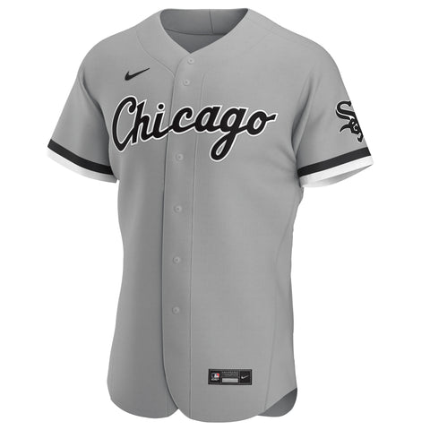Men's Chicago White Sox Nike Gray Road Authentic Official Team Jersey
