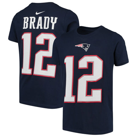 Youth New England Patriots Tom Brady Nike Navy Player Pride Name & Number Performance T-Shirt
