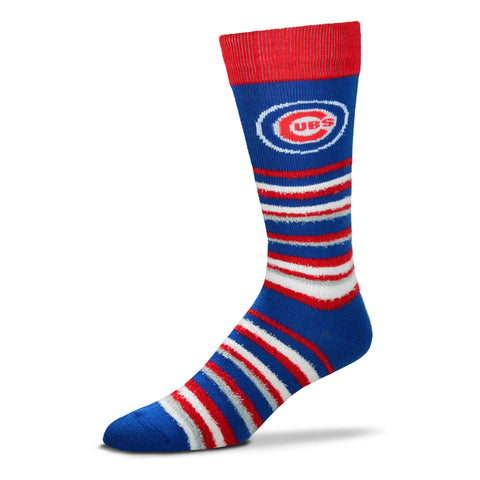 Men's Chicago Cubs Royal/Red FBF Muchas Rayas Socks