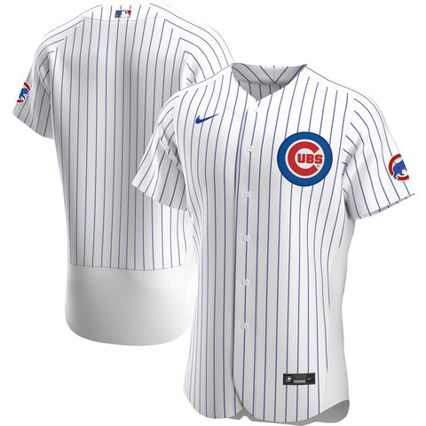 Men's Chicago Cubs Nike White Home Authentic Official Team Jersey