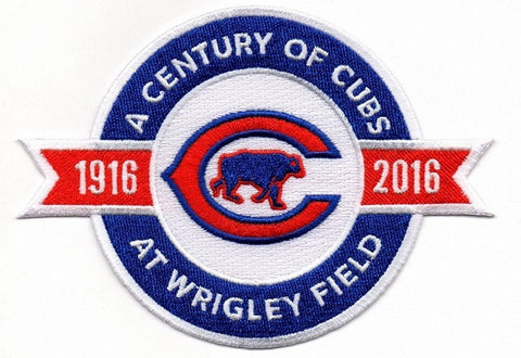 Chicago Cubs 100 Years Anniversary and Commemorative Patch - Pro Jersey Sports - 1