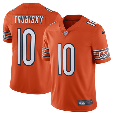 Men's Nike Mitchell Trubisky Orange Chicago Bears Alternate Vapor Untouchable Limited Player Jersey