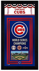 "Chicago Cubs 3 Time World Series Champions Miniframe- 13""x 6.75"