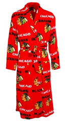 Men's Chicago Blackhawks Red Facade Microfleece Robe