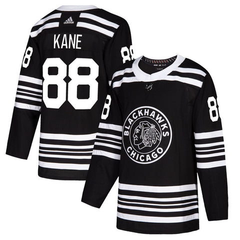 Men's Chicago Blackhawks Patrick Kane adidas Black Alternate 2019/20 Authentic Player Jersey