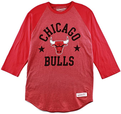 Mitchell & Ness Men's Chicago Bulls Media Guide Raglan
