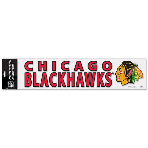Chicago Blackhawks 4X17 Perfect Cut Decal - Pro Jersey Sports