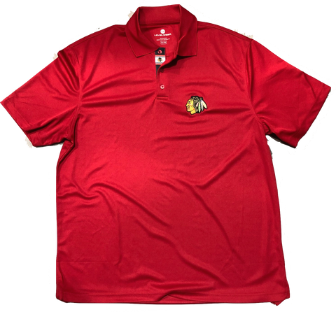 Chicago Blackhawks Omaha Bar Stripe Polo By Levelwear
