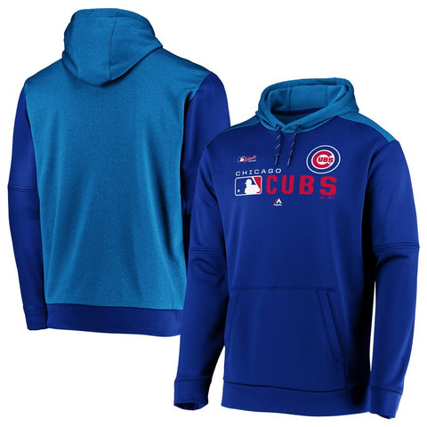 Men's Chicago Cubs Majestic Royal Authentic Collection Team Distinction Pullover Hoodie