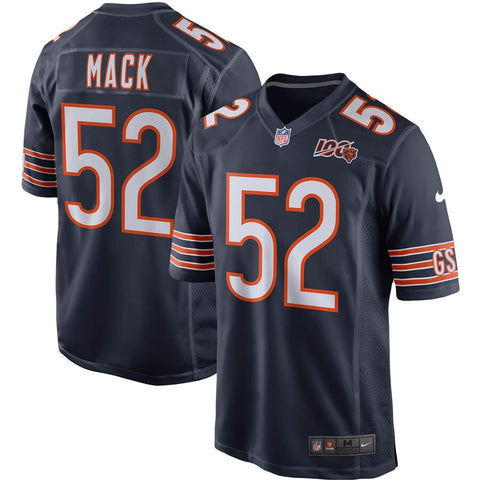 Men's Chicago Bears Khalil Mack Nike Navy 100th Season Game Jersey