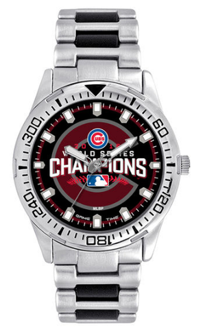 Chicago Cubs 2016 World Series Champions Two Tone Watch