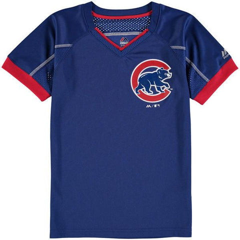 Youth MLB Chicago Cubs Majestic Royal Emergence T-Shirt