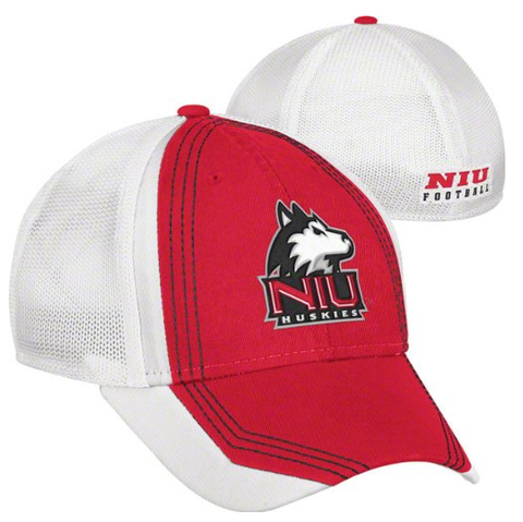 Northern Illinois Huskies Cardinal adidas Camp Structured Meshback Flex Hat