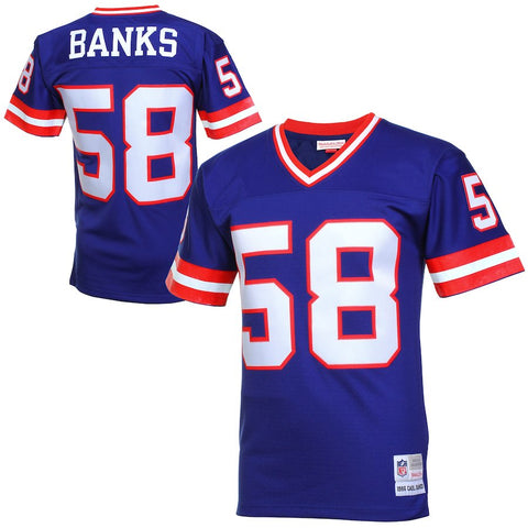 Mens New York Giants Carl Banks Mitchell & Ness Royal Blue Retired Player Vintage Replica Jersey