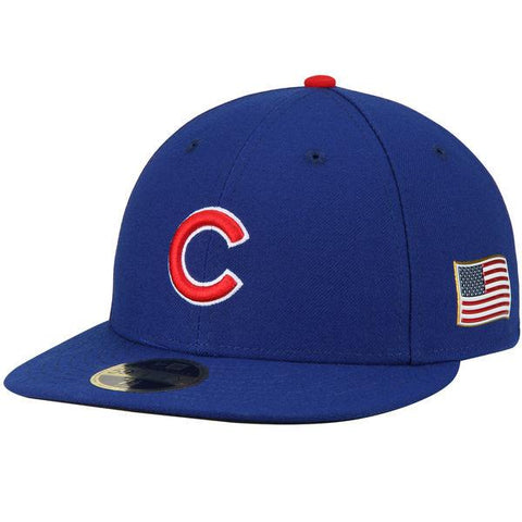 Men's Chicago Cubs New Era Royal Authentic Collection On-Field 59FIFTY Low Profile Fitted Hat with 9/11 Side Patch