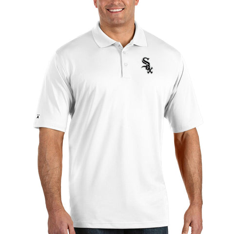 Antigua Chicago White Sox White Pique Xtra Lite Polo