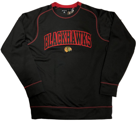 Chicago Blackhawks Volt Wordmark Fleece Sweatshirt By Antigua
