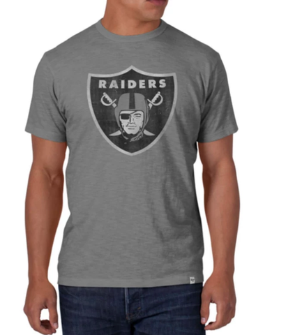 Men's Las Vegas Raiders Gray Legacy Scrum Tee By '47 Brand