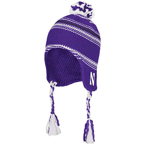 NCAA Northwestern Wildcats Tassel Knit Hat