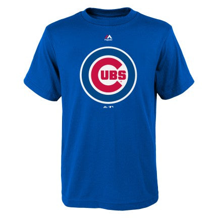 Chicago Cubs Team Logo Child Tee By Majestic