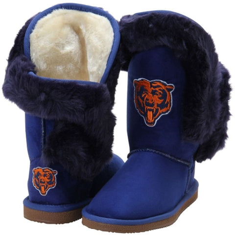 Women's Chicago Bears Navy Cuce Winter Boots