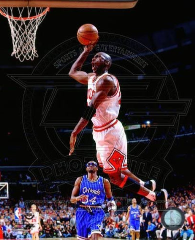 Chicago Bulls Michael Jordan 8x10 Photo Dunk Over Horace Grant
