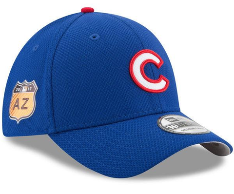 Men's Chicago Cubs New Era Royal 2017 Spring Training Diamond Era 39THIRTY Flex Hat