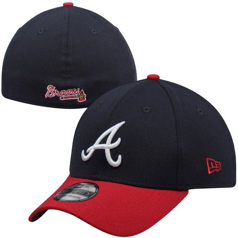 Men's Atlanta Braves Team Classic Home 39THIRTY Flex Hat - Navy