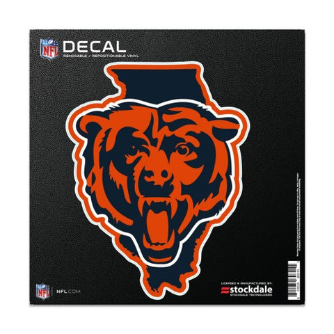 "Chicago Bears 6X6 ""State"" All Surface Decal By Wincraft"