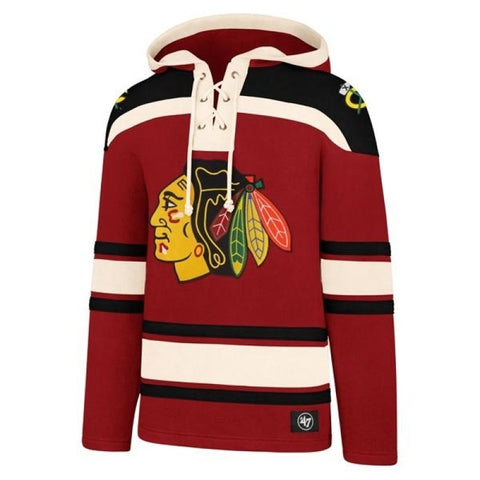 47 Chicago Blackhawks Superior Lacer Red Fashion Hood