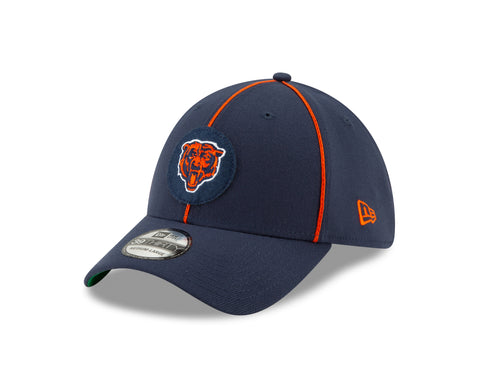 Chicago Bears 2019 Established Collection Sideline 1920 Home Bear Head Logo Navy 39THIRTY Flex Hat