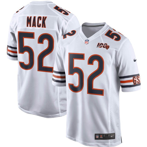 Men's Chicago Bears Khalil Mack Nike White 100th Season Game Jersey