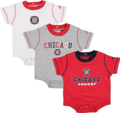 adidas Chicago Fire Infant Creeper 3 Pack