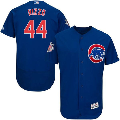 Men's Chicago Cubs Anthony Rizzo Royal Alternate Flex Base Authentic Collection Player Jersey