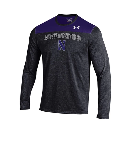 Men's Northwestern Wildcats Under Armour Foundation Long Sleeve Tech Tee