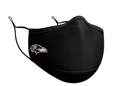 Adult Baltimore Ravens New Era Black On-Field Face Covering